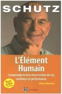 Pochette du livre : Will Schutz - L'élément Humain