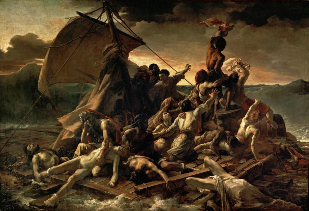 Le radeau de la Méduse ou la terrible histoire d'un commandement des hommes qui a conduit à cette catastrophe.